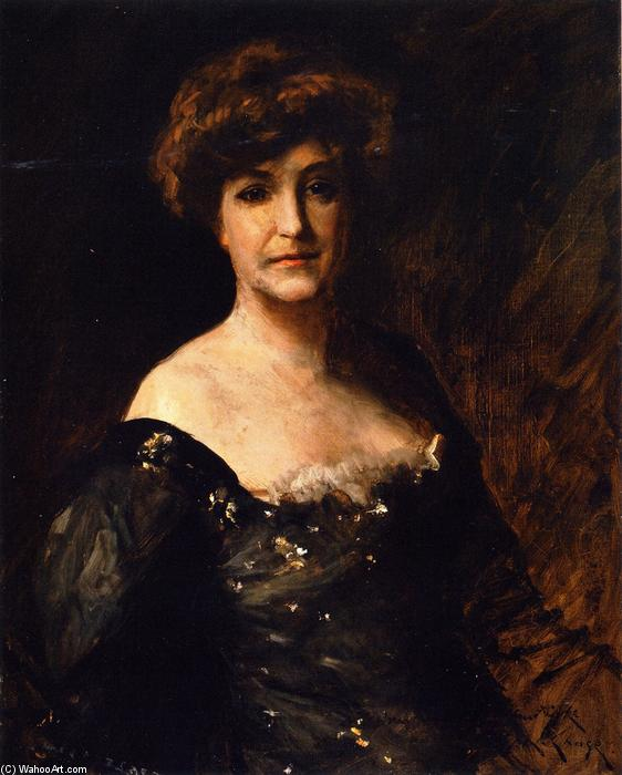 Minnie Madden Riske, Oil On Canvas by William Merritt Chase (1849-1916, United States)