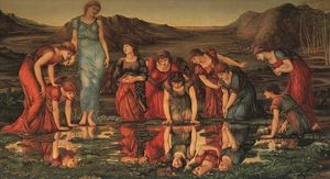 Edward Coley Burne-Jones - The Mirror of Venus