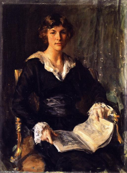 Miss Savageau, Oil On Canvas by William Merritt Chase (1849-1916, United States)
