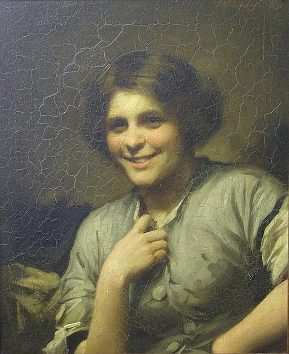 Molly, the maid of the inn by Thomas Benjamin Kennington (1856-1916, United Kingdom)
