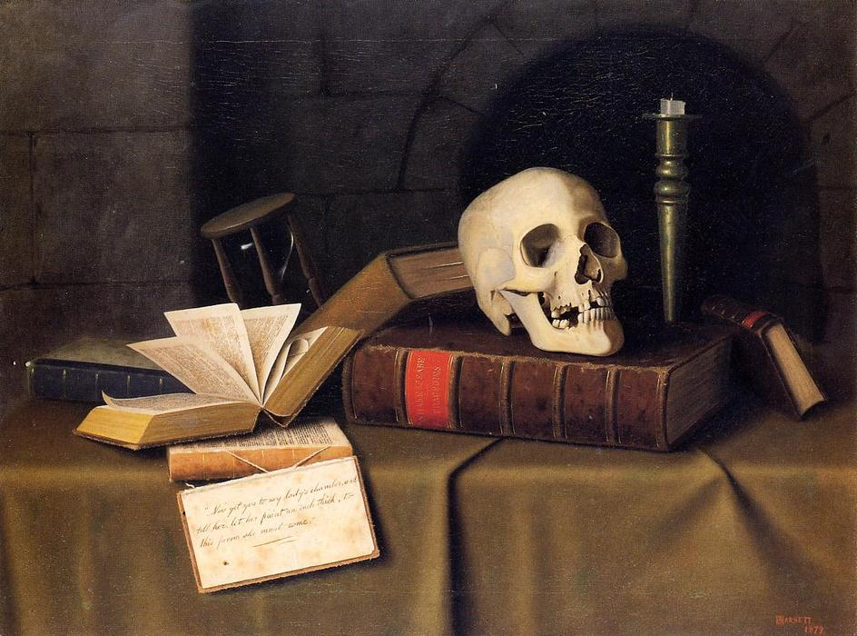 Momento Mori, To This Favour'''', Oil On Canvas by William Michael Harnett (1848-1892, Ireland)