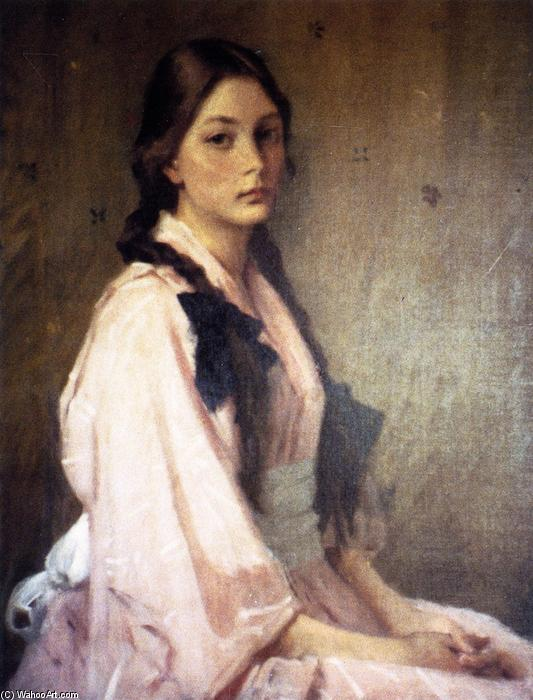 Mona, Daughter of Mrs. R (also known as Mona), Oil On Canvas by William Merritt Chase (1849-1916, United States)