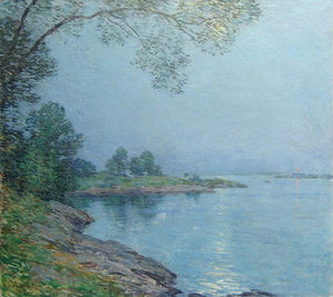 Willard Leroy Metcalf - Moonlight, Kittery Maine
