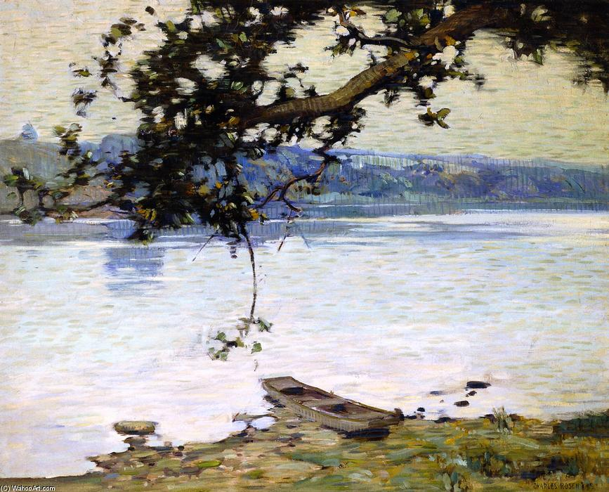 Morning on the Delaware, Tempera by Charles Rosen