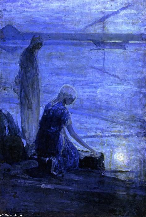 Moses in the Bullrushes, 1921 by Henry Ossawa Tanner (1859-1937, United States) | Museum Quality Copies Henry Ossawa Tanner | ArtsDot.com