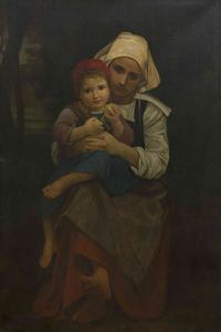 Henry Salem Hubbell - Mother and Child (after William Adolphe Bouguereau)