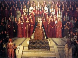 Thomas Cooper Gotch - The Mother Enthroned