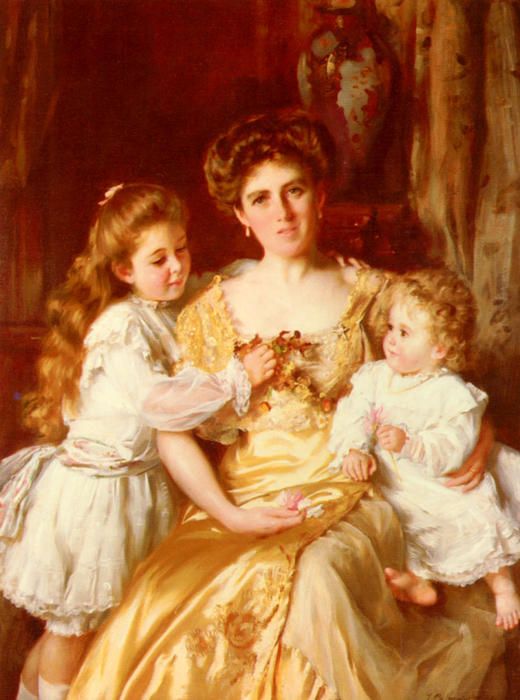 A Mother's Love by Thomas Benjamin Kennington (1856-1916, United Kingdom)