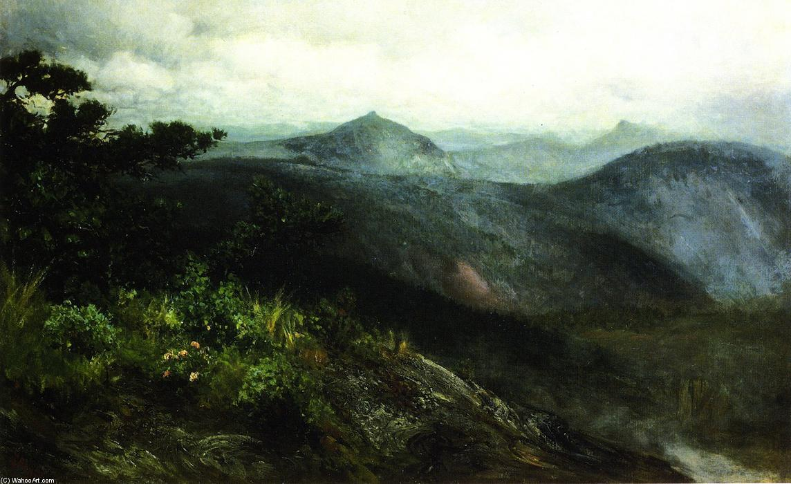 Mountain Landscape, Highlands, North Carolina, 1889 by Henry Ossawa Tanner (1859-1937, United States) | Paintings Reproductions Henry Ossawa Tanner | ArtsDot.com