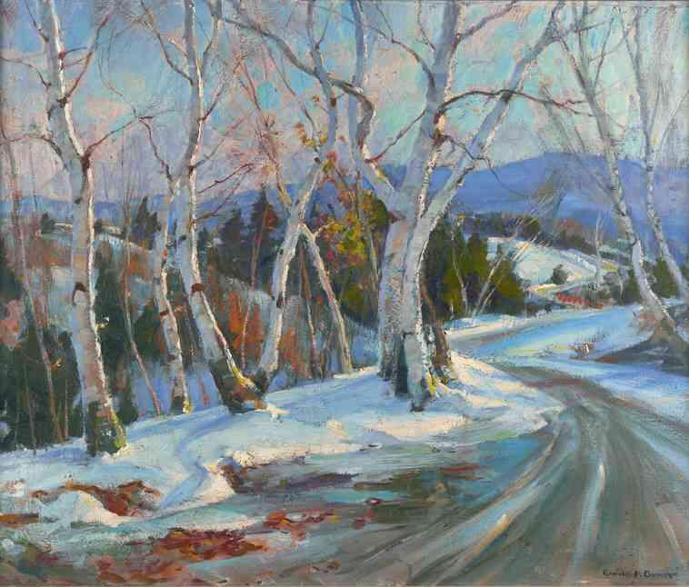 Mountain Road, Vermont by Emile Albert Gruppé (1896-1978, United States)