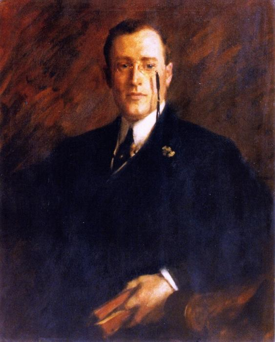 Mr. Arthur White Sullivan, Oil On Canvas by William Merritt Chase (1849-1916, United States)