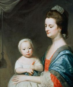 George Romney - Mrs Marton and her son Oliver
