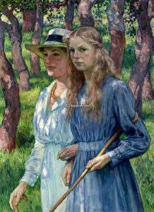 Theo Van Rysselberghe - Mrs. Schlumberger and her Daughter