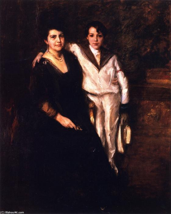 Mrs. W.M. Chase and R.D. Chase, Oil On Canvas by William Merritt Chase (1849-1916, United States)