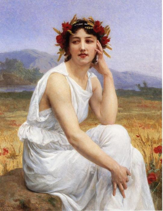 The Muse, Oil On Canvas by Guillaume Seignac (1870-1924, France)