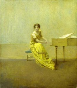 Thomas Wilmer Dewing - The Music Lesson