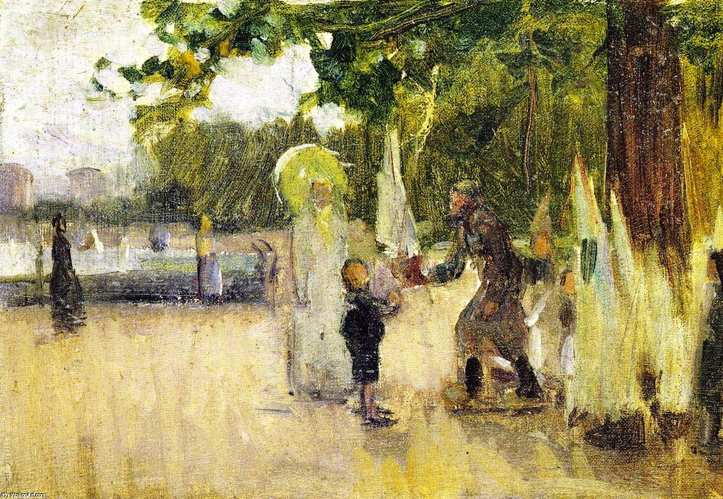The Man Who Rented Boats, 1900 by Henry Ossawa Tanner (1859-1937, United States) | Oil Painting | ArtsDot.com