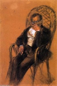 Adolph Menzel - Man with Cigar