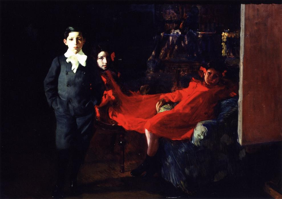 My Children, Oil On Canvas by Joaquin Sorolla Y Bastida (1863-1923, Spain)