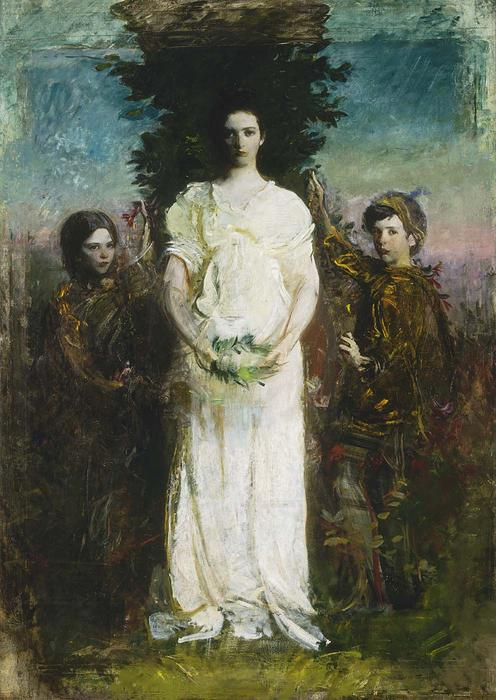 My Children (also known as Mary, Gerald, and Gladys Thayer), Oil On Canvas by Abbott Handerson Thayer (1849-1921, United States)