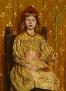 Thomas Cooper Gotch - My Crown and Sceptre