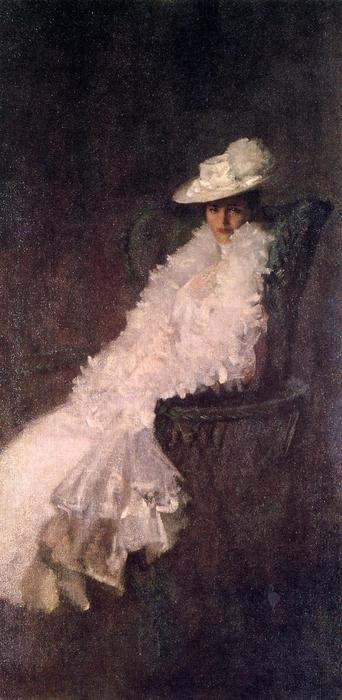 My Daughter Dieudonnee (also known as Alice Dieudonnee Chase), Oil On Panel by William Merritt Chase (1849-1916, United States)