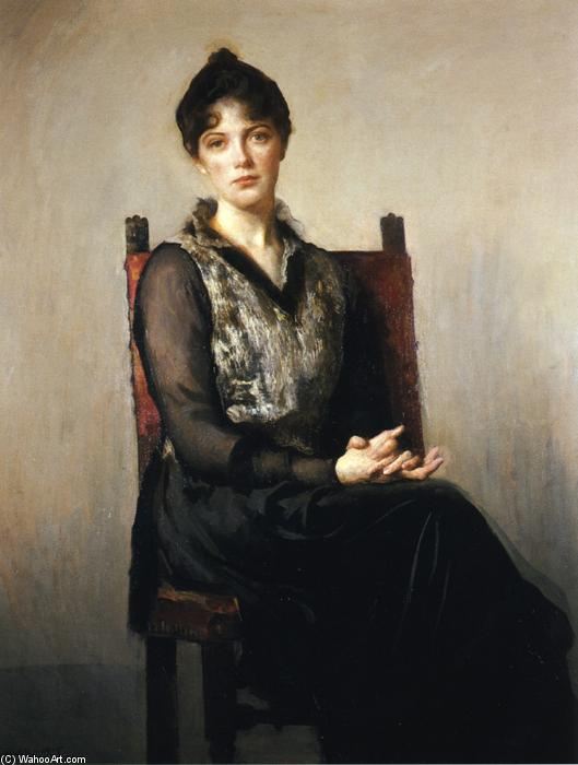 My Daughter Josephine, Oil On Canvas by Edmund Charles Tarbell (1862-1938, United States)