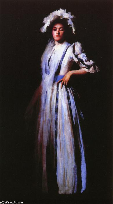 My Sister Lydia, 1888 by Edmund Charles Tarbell (1862-1938, United States) | Painting Copy | ArtsDot.com