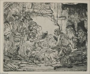Rembrandt Van Rijn - The Nativity