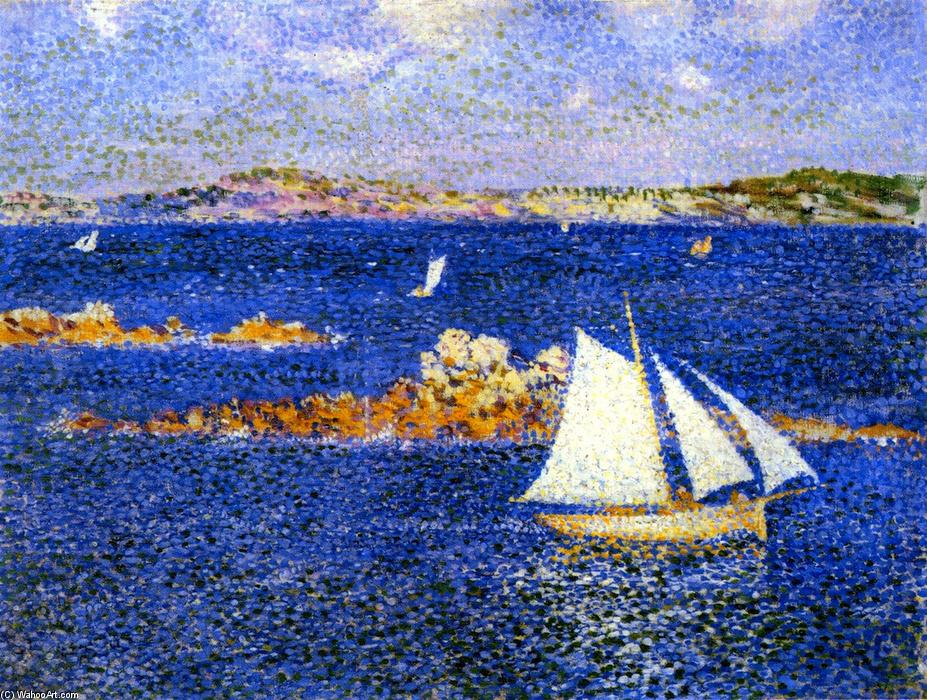 Near the Rocks of Per Kiridec, Roscoff, Oil On Canvas by Theo Van Rysselberghe (1862-1926, Belgium)