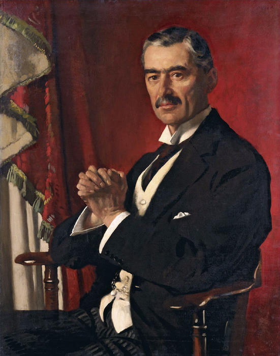 Neville Chamberlain, Oil On Canvas by William Newenham Montague Orpen (1878-1931, Ireland)