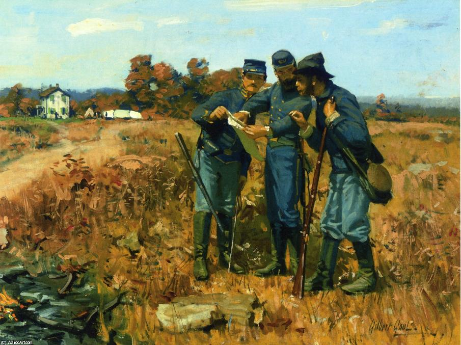 News from the Front by William Gilbert Gaul (1855-1919, United States) | Museum Art Reproductions | ArtsDot.com