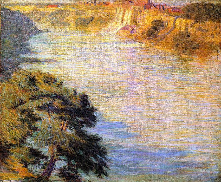 Niagara Falls, Oil On Canvas by Phillip Leslie Hale (1865-1931, United States)