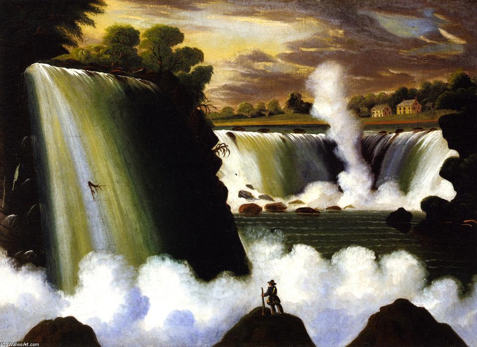 Niagara Falls, Oil On Canvas by Thomas Chambers (1808-1869)