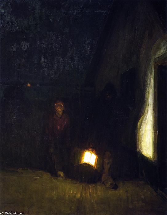Night, 1905 by Henry Ossawa Tanner (1859-1937, United States) | Oil Painting | ArtsDot.com