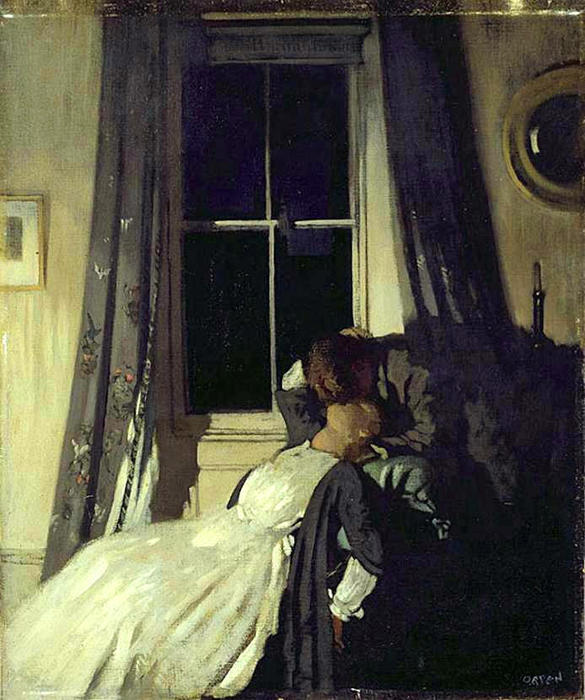 Night (also known as The painter and his wife Grace Knewstub), 1907 by William Newenham Montague Orpen (1878-1931, Ireland)