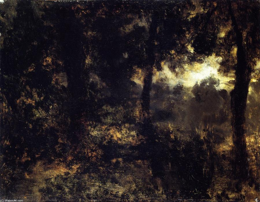 Night in the Forest, Oil On Canvas by Adolph Menzel (1815-1905, Poland)