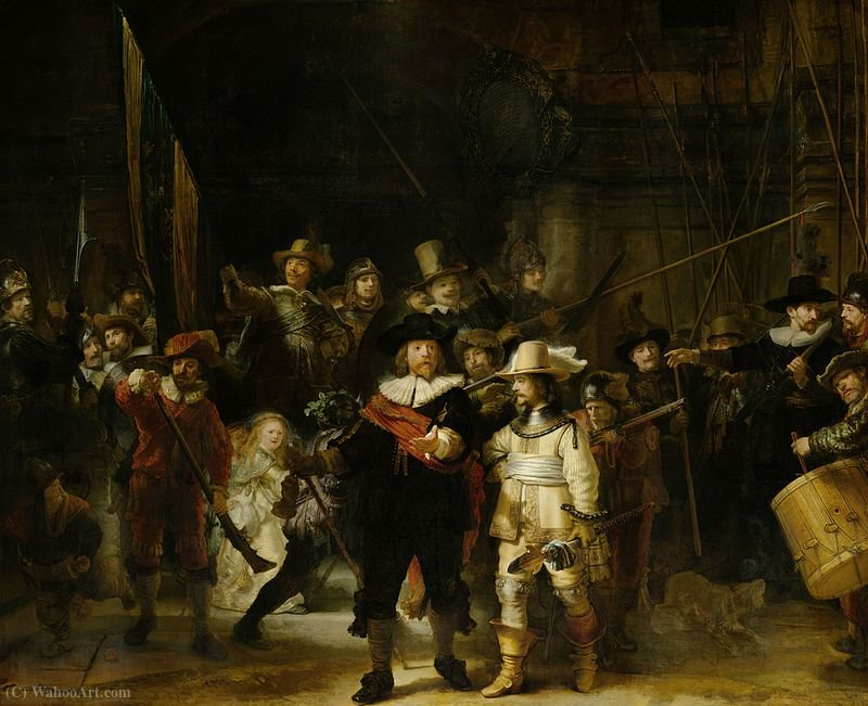 Night Watch, 1642 by Rembrandt Van Rijn (1606-1669, Netherlands) | Museum Quality Copies Rembrandt Van Rijn | ArtsDot.com