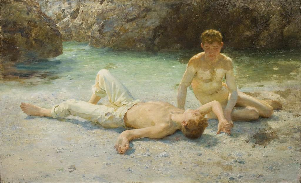 Noonday Heat, 1902 by Henry Scott Tuke (1858-1929, United Kingdom) | Art Reproductions Henry Scott Tuke | ArtsDot.com