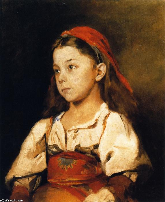 Normannisches Madchen (also known as Girl in the National Dress of Normandy), Oil On Canvas by William Merritt Chase (1849-1916, United States)