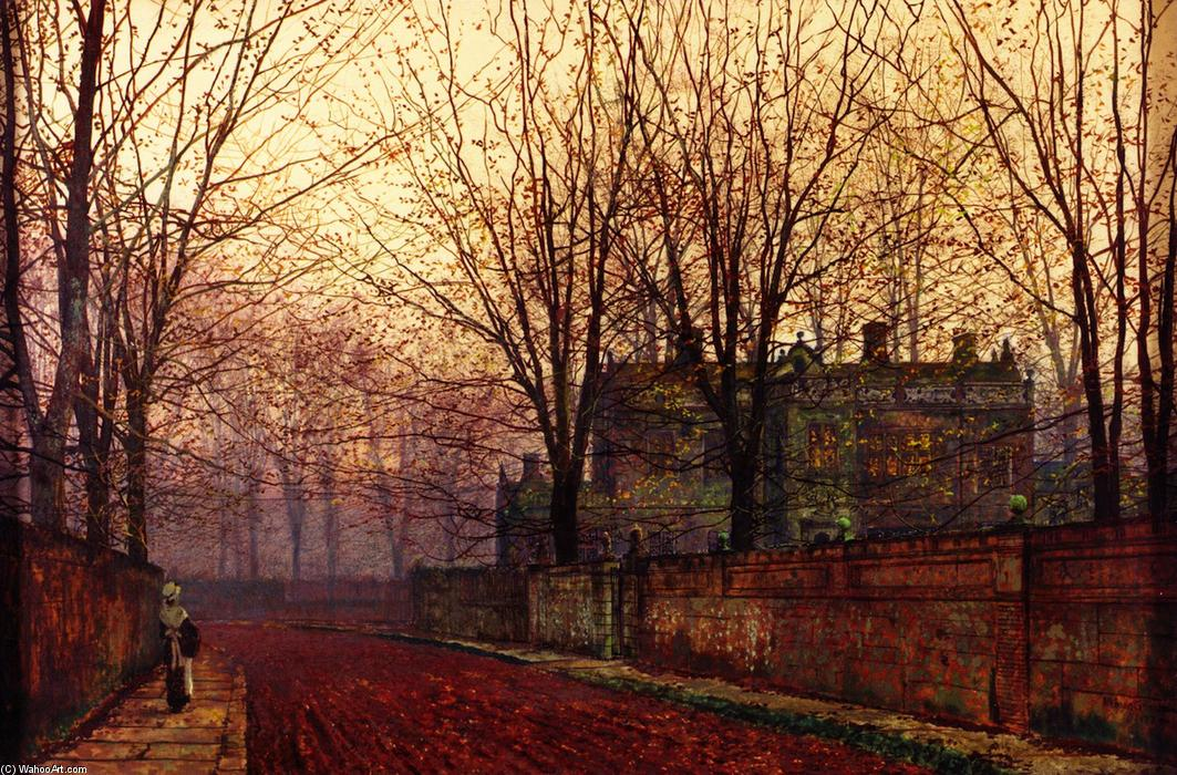 November Morning, Oil On Canvas by John Atkinson Grimshaw (1836-1893, United Kingdom)