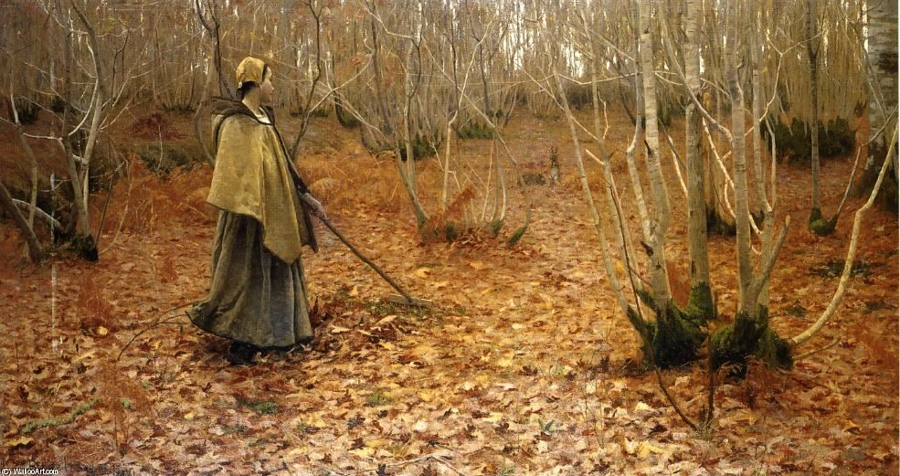 Novembre, Oil On Canvas by Lowell Birge Harrison (1854-1929, United States)