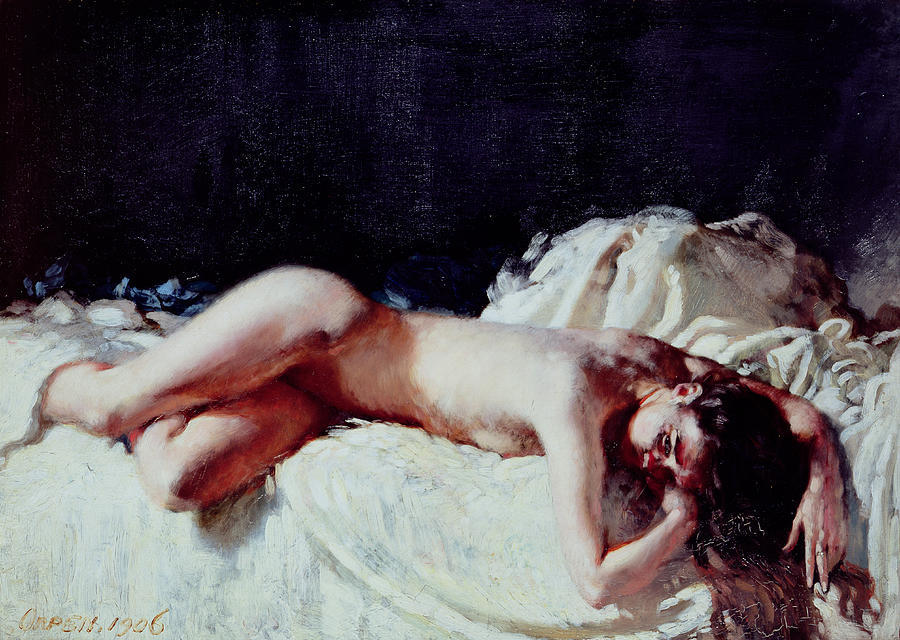 Nude Study, 1906 by William Newenham Montague Orpen (1878-1931, Ireland)