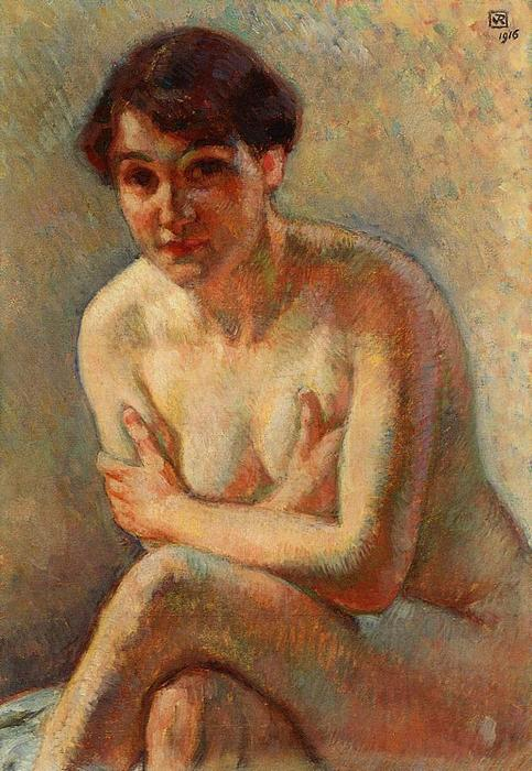 Nude Woman, Oil On Canvas by Theo Van Rysselberghe (1862-1926, Belgium)