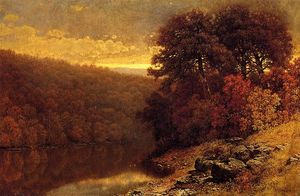 William Mason Brown - October on Great Otter Creek, Vermont