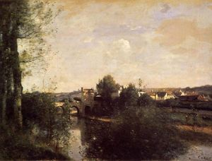 Jean Baptiste Camille Corot - Old Bridge at Limay, on the Seine