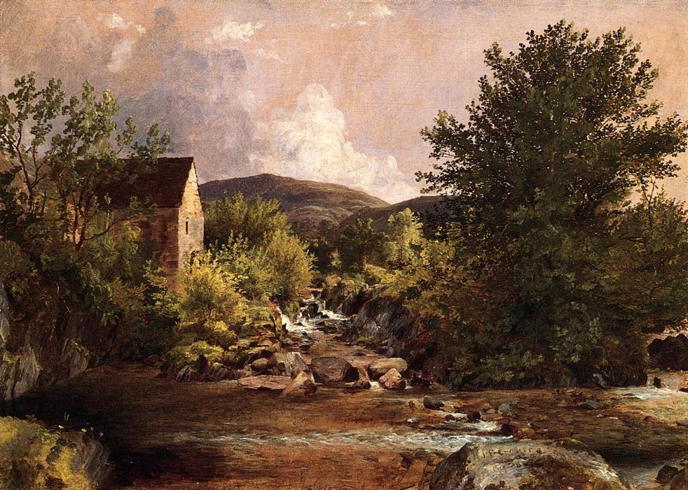 The Old Mill, Oil On Canvas by Jasper Francis Cropsey (1823-1900, United States)