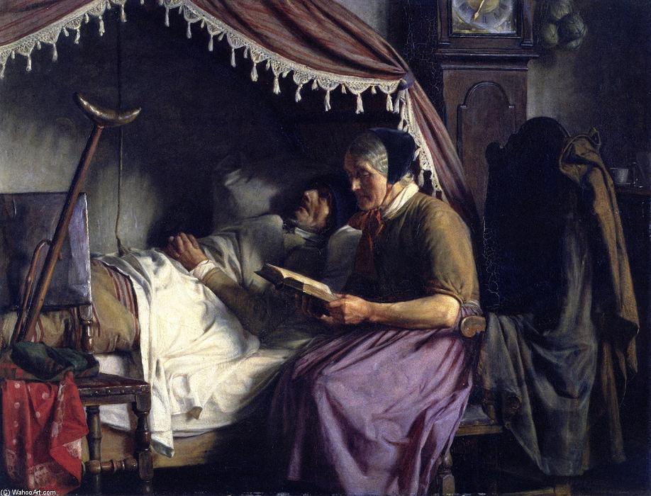 Old People, Oil On Canvas by Carl Heinrich Bloch (1834-1890, Denmark)
