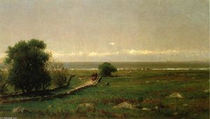 Thomas Worthington Whittredge - The Old Road to the Sea (also known as Harvest of Seaweed)
