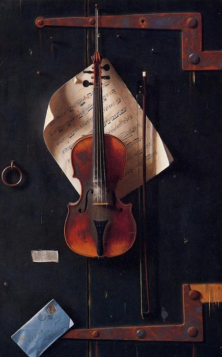 The Old Violin, Oil On Canvas by William Michael Harnett (1848-1892, Ireland)